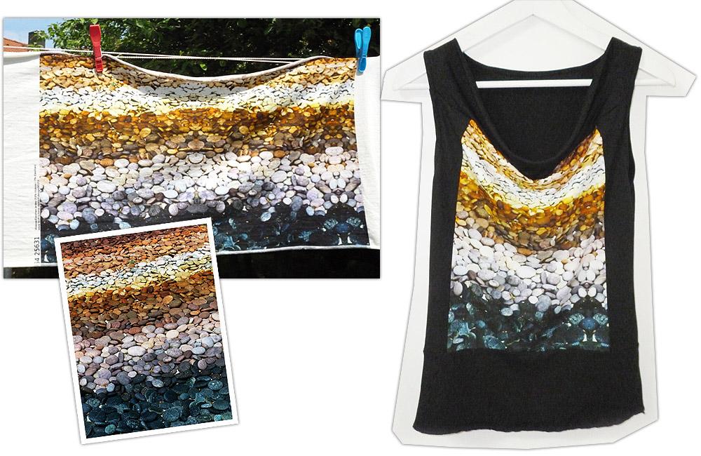 Vom Foto zum Stoff zum Shirt