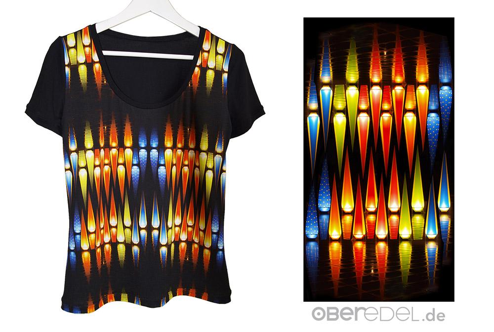 Selbst genähtes Shirt mit eigenem Stoff-Design