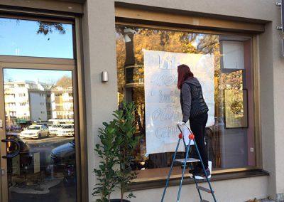 Schaufenster Beschriftung, OBEREDEL, Edeltraud Obermayr, Sign Painting